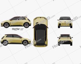 Renault 5 2021 car clipart