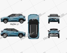 Renault Kiger 2021 car clipart