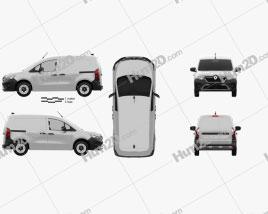 Renault Kangoo Van 2021 clipart