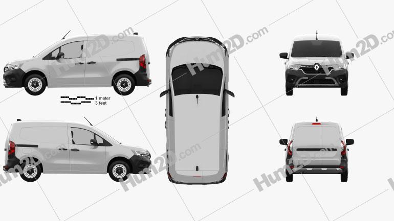 Renault Kangoo Van 2021 Clipart Image