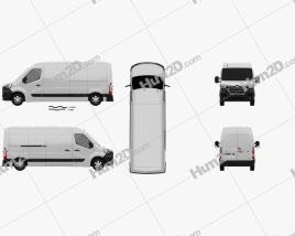 Renault Master Panel Van L3H2 2019 clipart