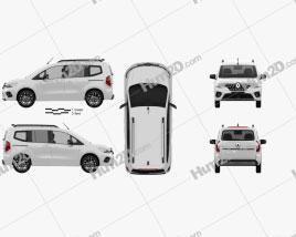 Renault Kangoo 2021 clipart