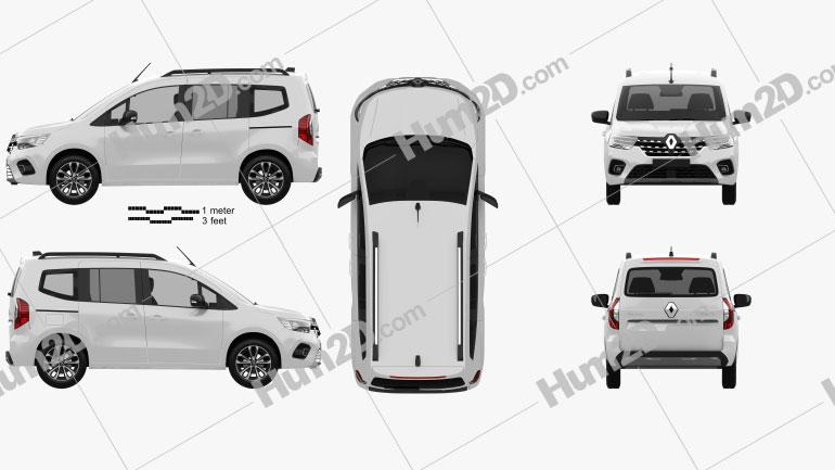 Renault Kangoo 2021 Clipart Image