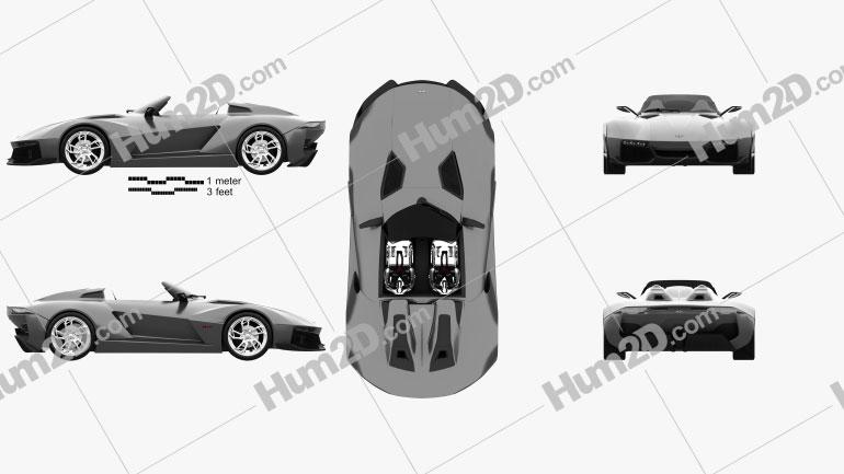 Rezvani Motors Beast 2015 car clipart