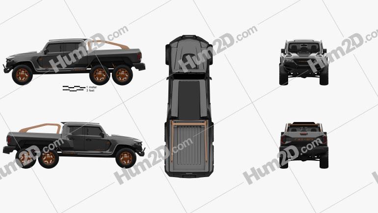 Rezvani Motors Hercules 6×6 2021 Clipart Image