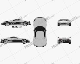Rimac Concept One 2016 car clipart