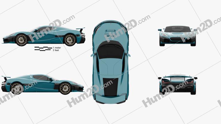 Rimac Nevera 2022 car clipart