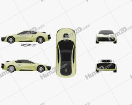 Rinspeed Etos 2016 car clipart