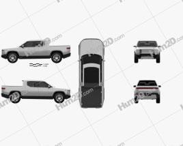 Rivian R1T 2018 car clipart