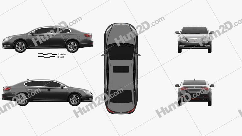 Roewe E950 2016 car clipart