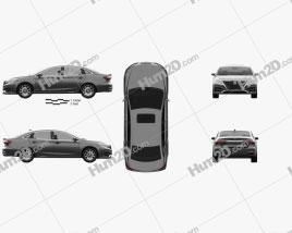 Roewe ei6 2017 car clipart