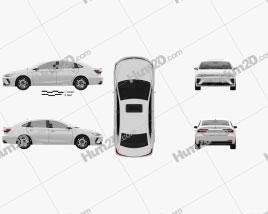 Roewe ER6 2020 car clipart
