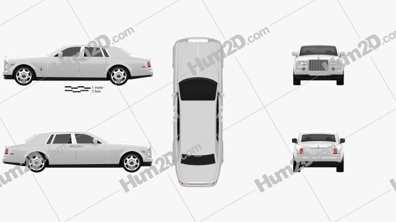 Rolls-Royce Phantom 2011 car clipart
