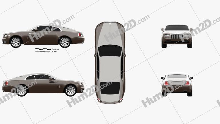 Rolls-Royce Wraith 2014 car clipart