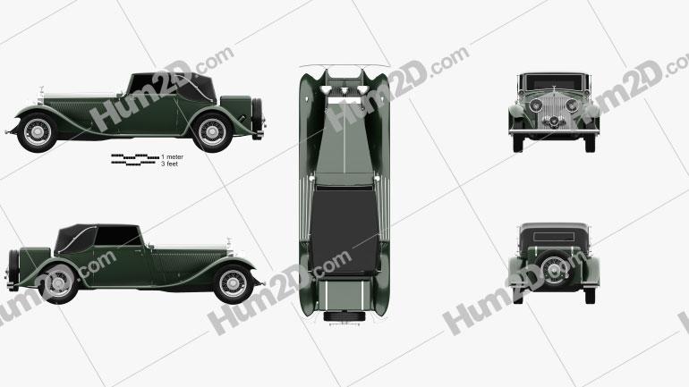 Rolls-Royce Phantom II Continental 1933 Clipart Image