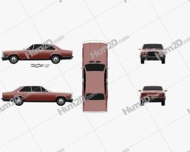 Rolls-Royce Camargue 1975 car clipart