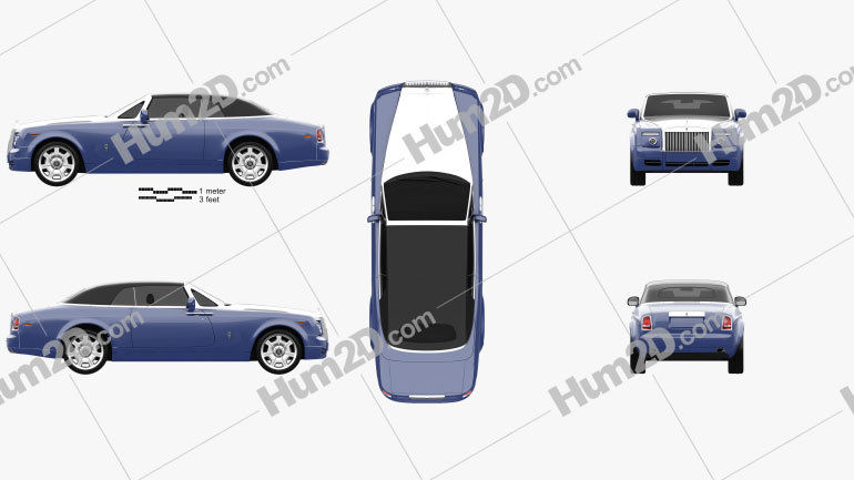 Rolls-Royce Phantom Drophead Coupe 2008 Clipart Image