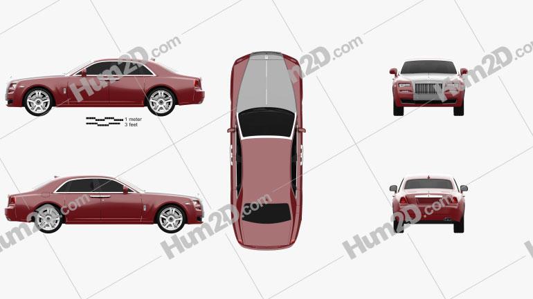 Rolls-Royce Ghost 2014 car clipart