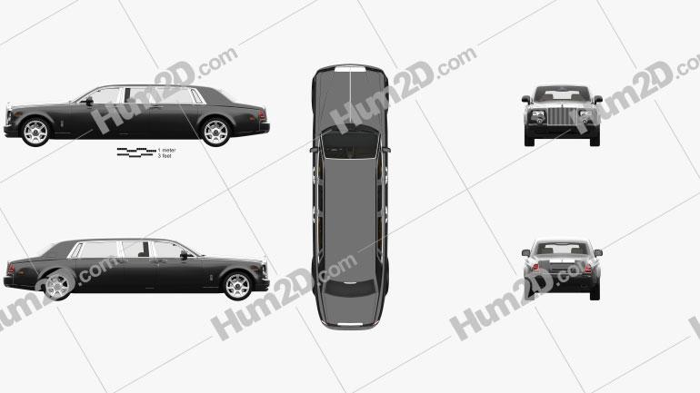 Rolls-Royce Phantom Mutec with HQ interior 2012 car clipart