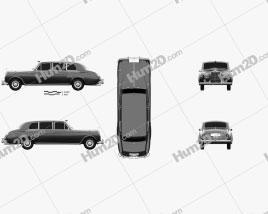Rolls-Royce Phantom Park Ward Limousine 1963 car clipart