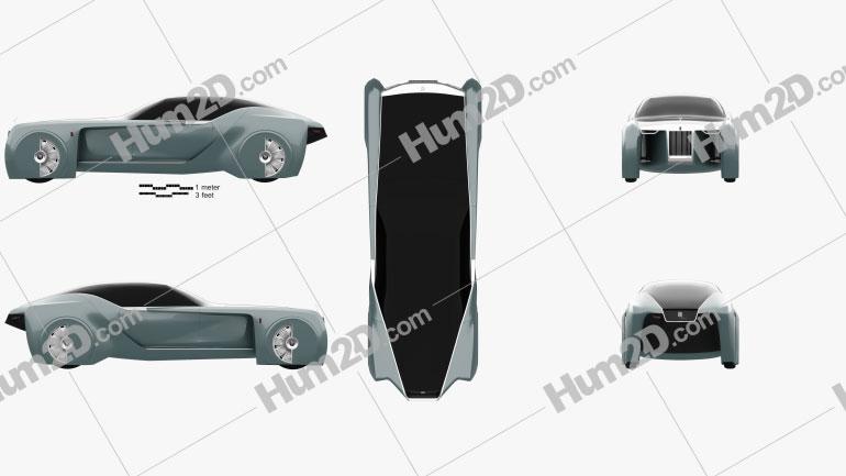 Rolls-Royce 103EX Vision Next 100 2016 car clipart