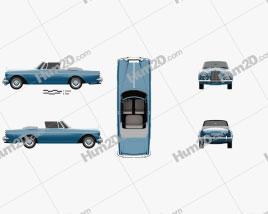 Rolls-Royce Silver Cloud III Mulliner Park Ward Drop Head Coupe 1966 car clipart