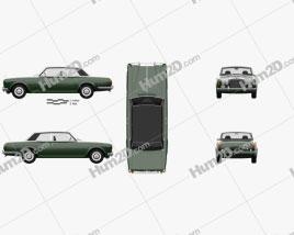 Rolls-Royce Corniche coupe 1977 car clipart
