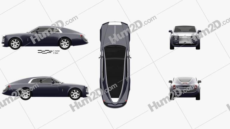 Rolls-Royce Sweptail 2017 car clipart