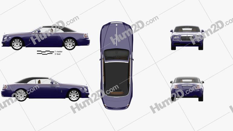 Rolls-Royce Dawn with HQ interior 2017 car clipart