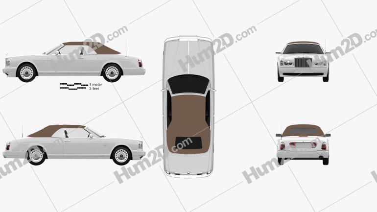 Rolls-Royce Corniche 2000 car clipart