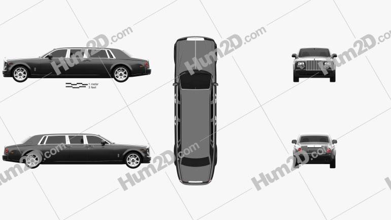 Rolls-Royce Phantom stretch Mutec 2012 car clipart