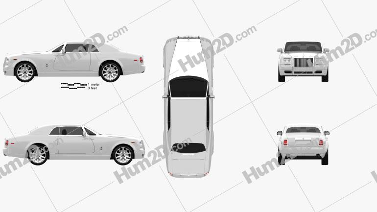 Rolls-Royce Phantom coupe 2012 car clipart