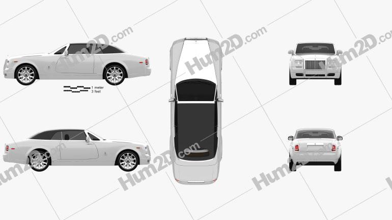 Rolls-Royce Phantom Drophead coupe 2012 car clipart