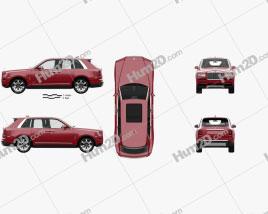 Rolls-Royce Cullinan with HQ interior 2019 car clipart