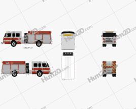 Rosenbauer TP3 Pumper Fire Truck 2015 clipart