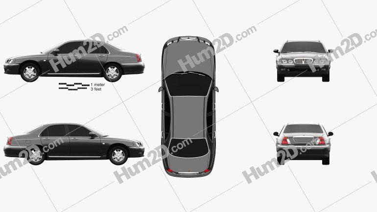 Rover 75 1998 car clipart