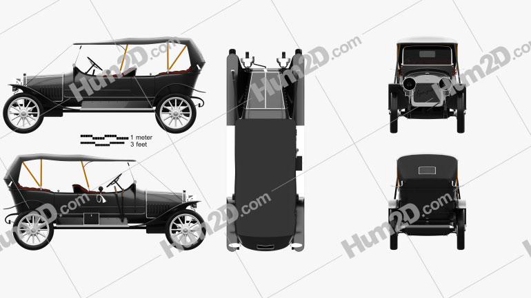 Russo-Balt K12/20 1911 car clipart