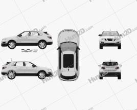 Saab 9-4X 2012 car clipart