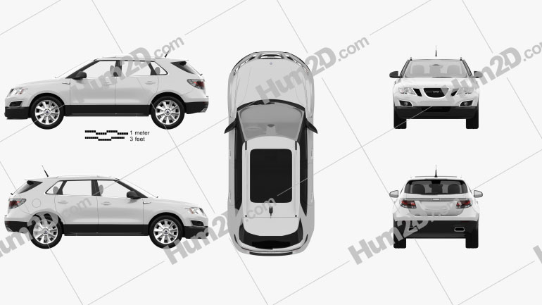 Saab 9-4X 2012 Clipart Image