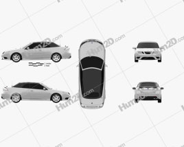 Saab 9-3 convertible 2008 car clipart