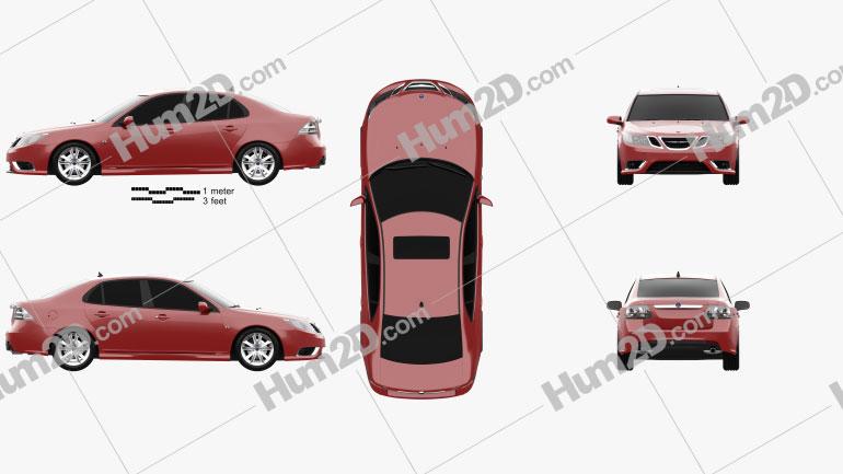 Saab 9-3 Sport Sedan 2008 car clipart