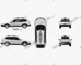 Saab 9-3 X 2009 car clipart