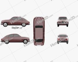 Saab 96 1960 car clipart