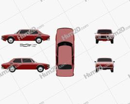 Saab 99 1972 car clipart