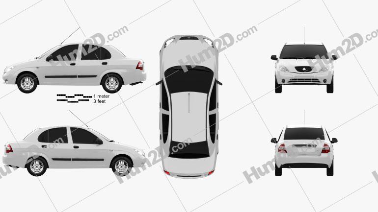 Saipa Tiba 2009 car clipart