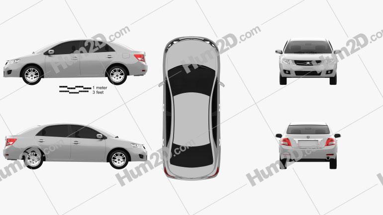 Saipa S300 2014 car clipart