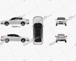 Samsung SM5 2013 car clipart