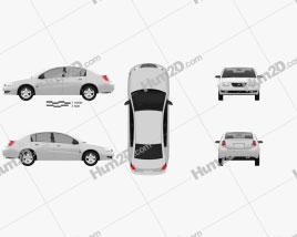 Saturn Ion 2004 car clipart