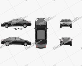 Saturn Aura 2006 car clipart