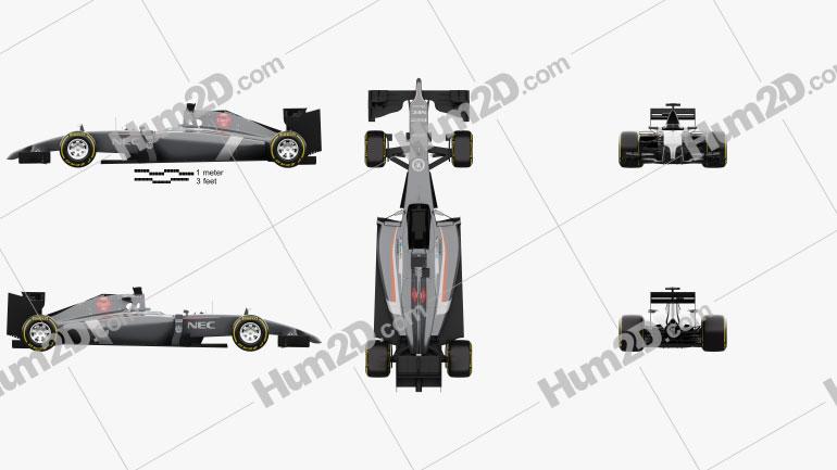 Sauber C33 2014 Clipart Image
